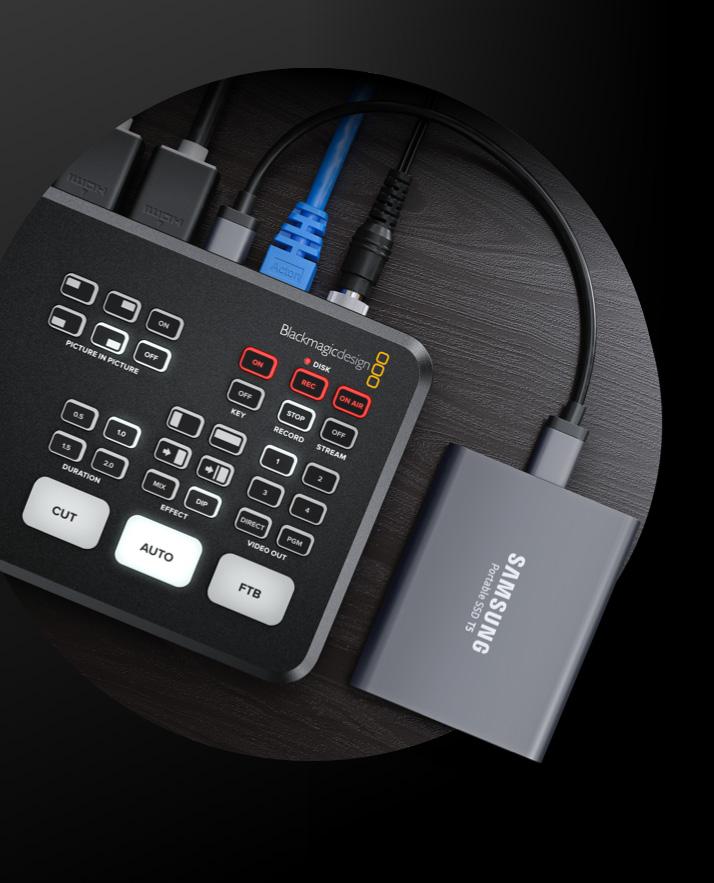 ATEM Mini ProでUSBフラッシュディスクに直接収録